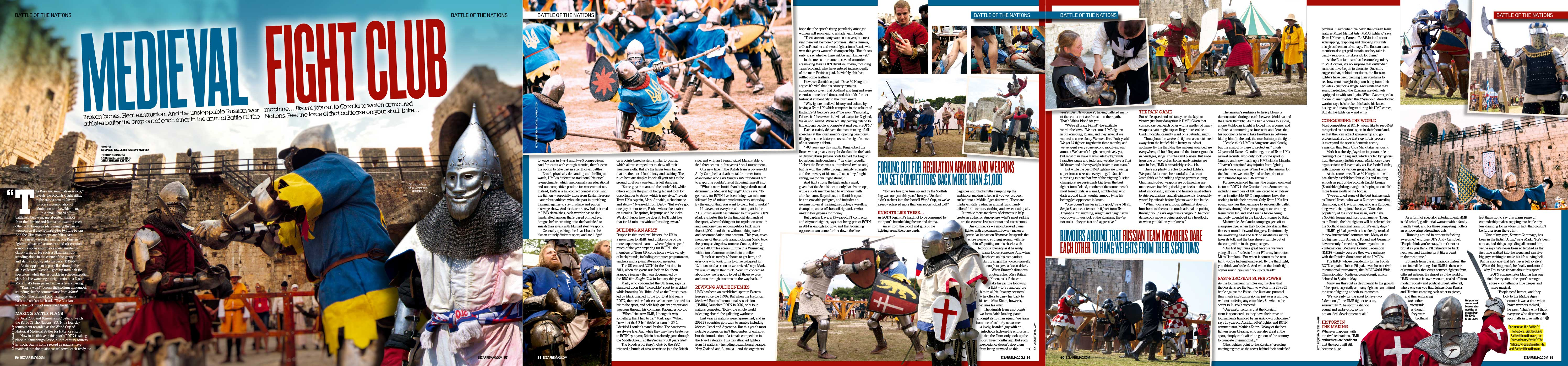Battle of the Nations: medieval fight club — Bizarre Mag 2014