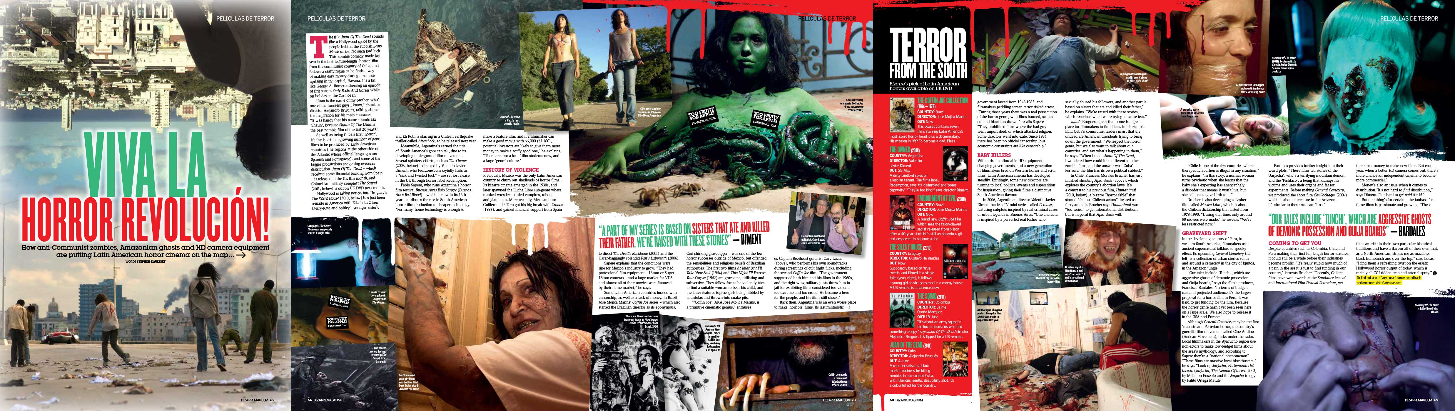South American horror films — Bizarre Mag 2012