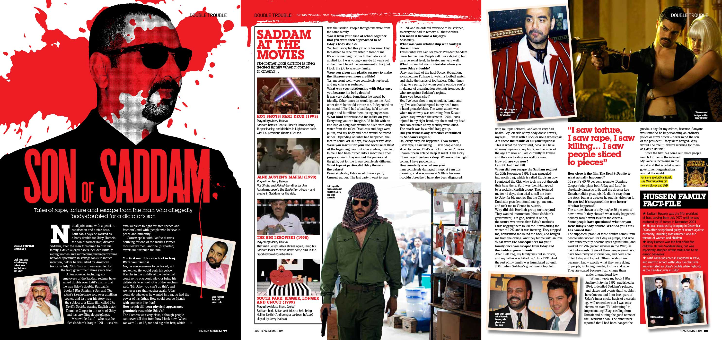 Uday Hussein's body double — Bizarre Mag 2012