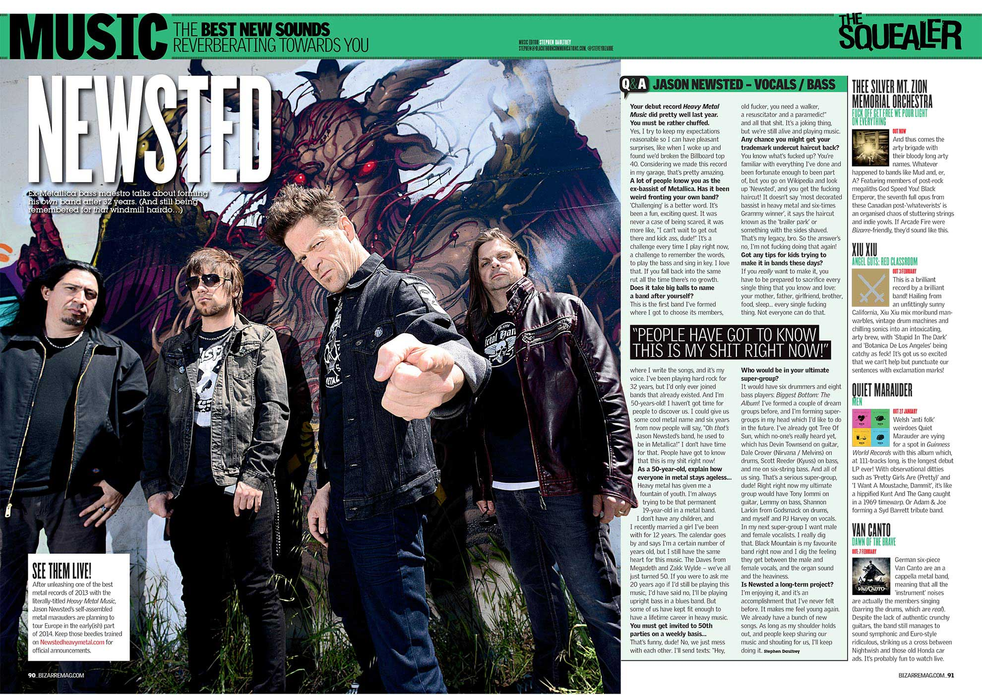 Newsted — Bizarre Mag 2014