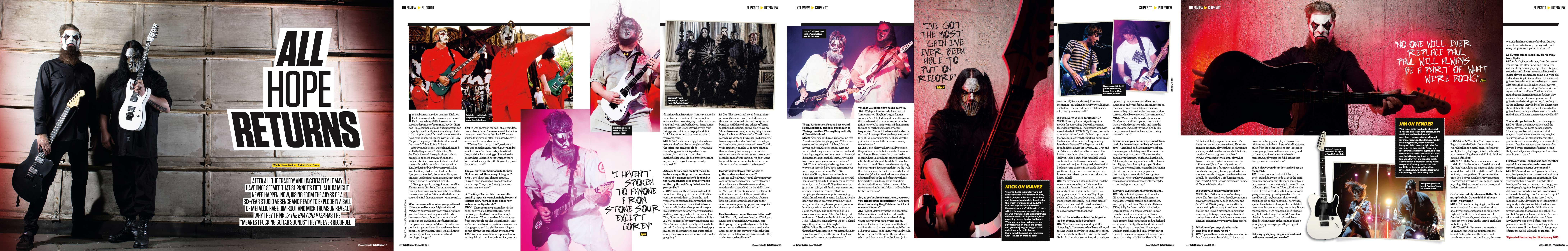Total Guitar Slipknot Slipknot Cover Feature — Total